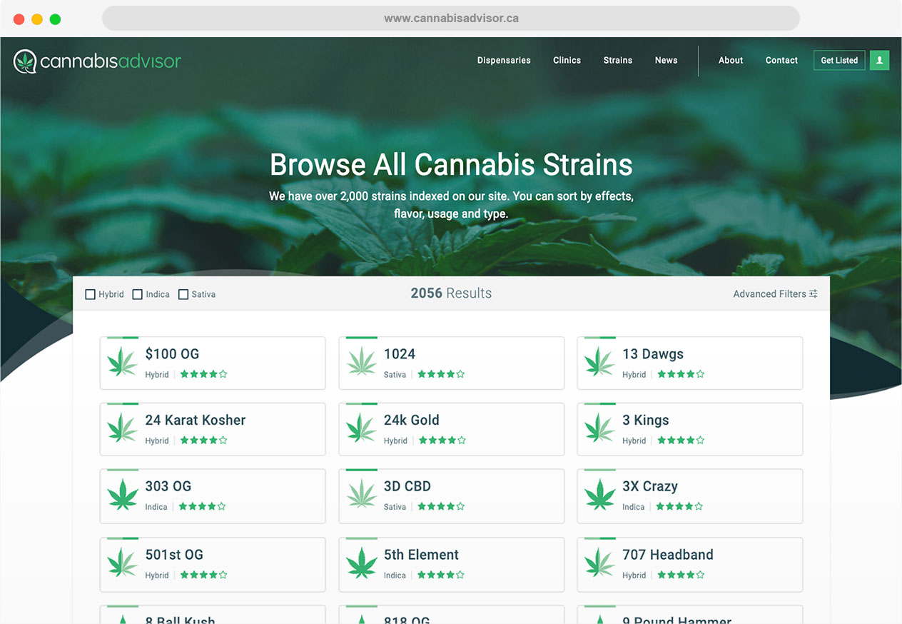 CannabisAdvisor Browser Browse