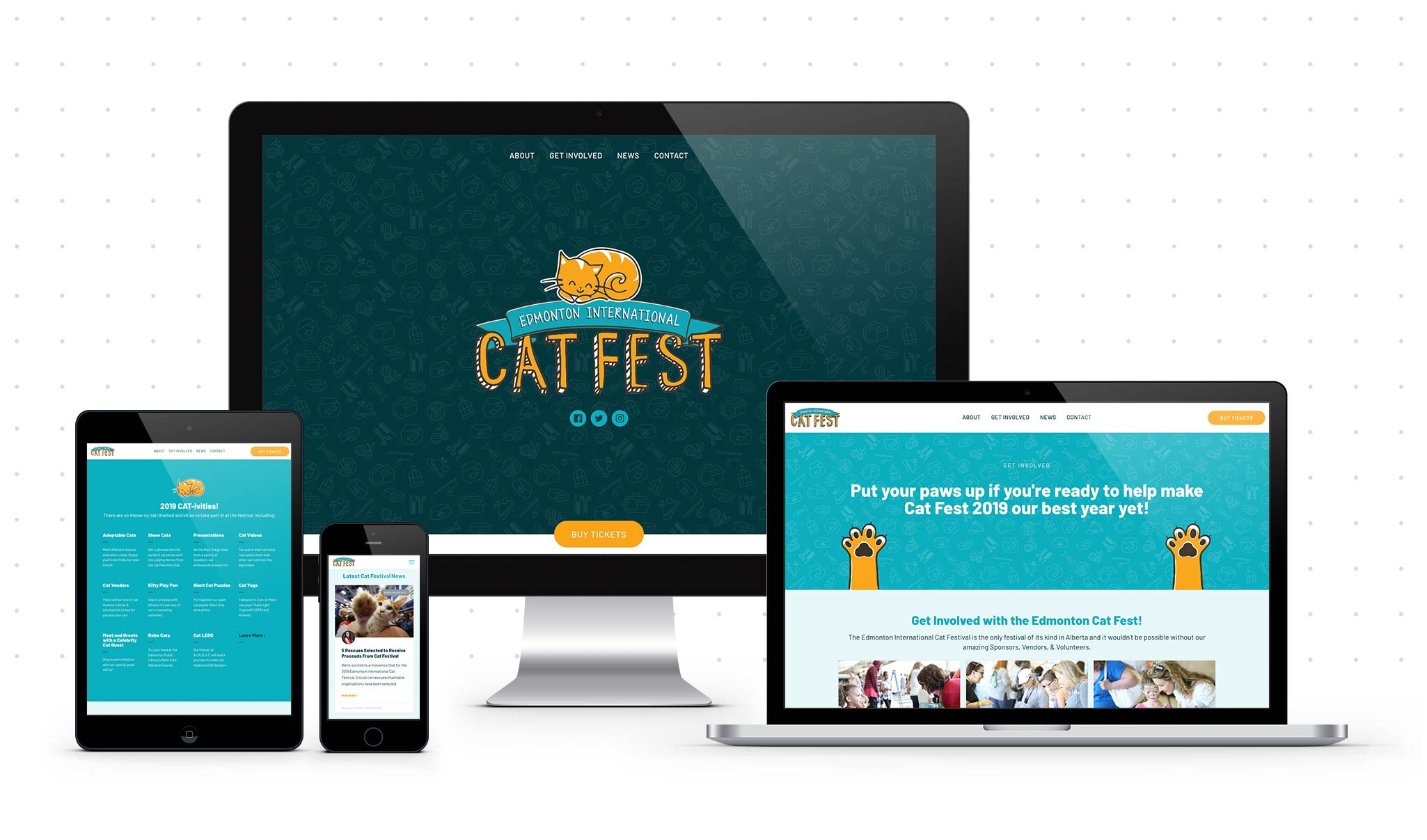 CatFest DeviceMock Dots