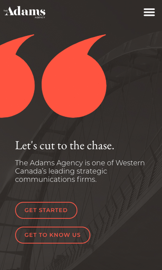 TheAdamsAgency MobileScreen