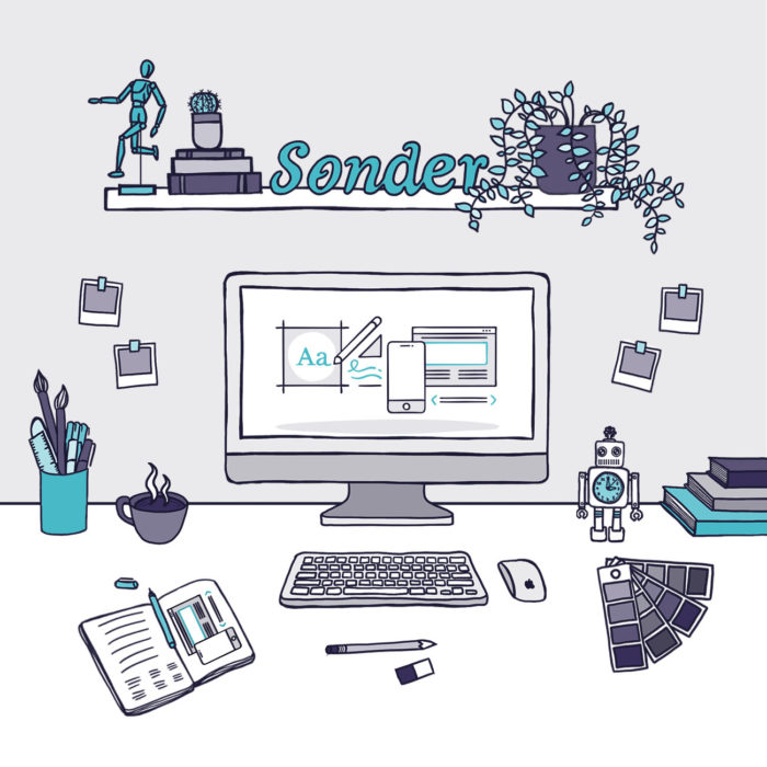Sonder Illustration WebsiteHero